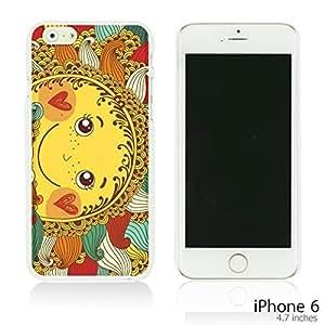 OnlineBestDigital - Cartoon Paintings Hardback Case for Apple iPhone 6 (4.7 inch)Smartphone - Happy Sun