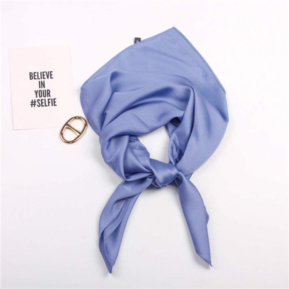 TYJYTM Bufandas cuadradas con Estampado sólido España Hijab Stain Bufanda de Seda Mujer Moda Señora Diadema Bufandas pequeñas Pañuelo, Azul, 70CMx70CM: Amazon.es: Deportes y aire libre