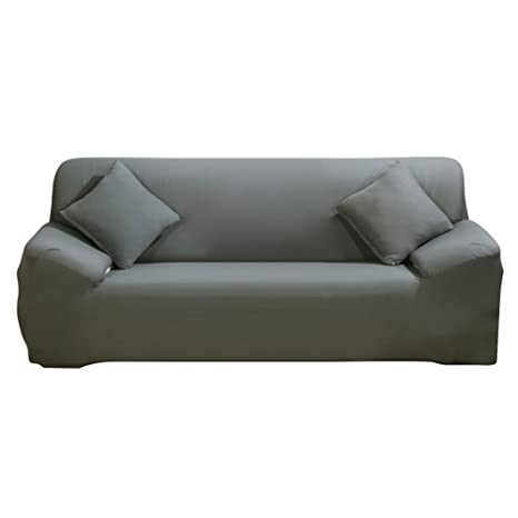 ParaCity elástico funda para silla 3 plazas tela funda protectora pantalla sillón funda protectora, Gris, 3 seater:185-230cm