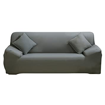 Strange Paracity Stretch Sofa Covers 3 Seater Fabric Slipcover Protector Couch Slipcover For 3 Cushion Couch 3 Seater 185 230Cm Grey Download Free Architecture Designs Rallybritishbridgeorg