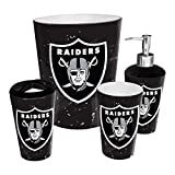 The Northwest Company Oakland Raiders NFL 4 Piece Bathroom Decorative Set (Scatter Series)
