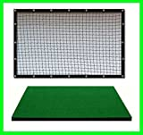 Golf Mat Golf Net Combo 9' x 15' High Velocity Impact Panel Plus a 5' x 5' Commercial Golf Mat; Free Ball Tray/Balls/Tees/60 Min. Full Swing Training DVD/Impact Decals and Correction Guide With Every Order! Everything You Need In One Package by Dura-P