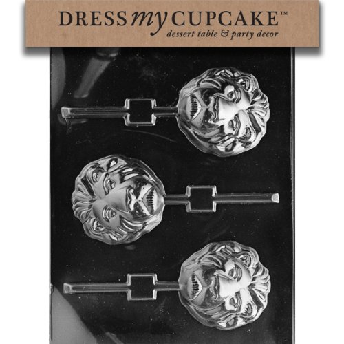 (Dress My Cupcake DMCA107 Chocolate Candy Mold, Lion Lollipop)