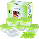 Baby Food Storage BPA-Free Airtight Containers - Best for Homemade, Organic, Portion and On The Go Tot Meal - Freezer & Microwave Safe, 6oz - Elacra