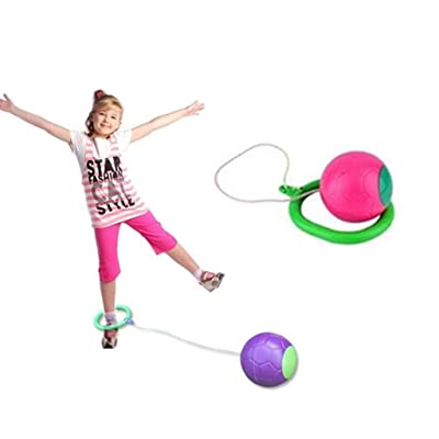 Yi-gog Skip Ball, Fun Exercise, for Boys Girls and Kids. (Pink): Sports & Outdoors