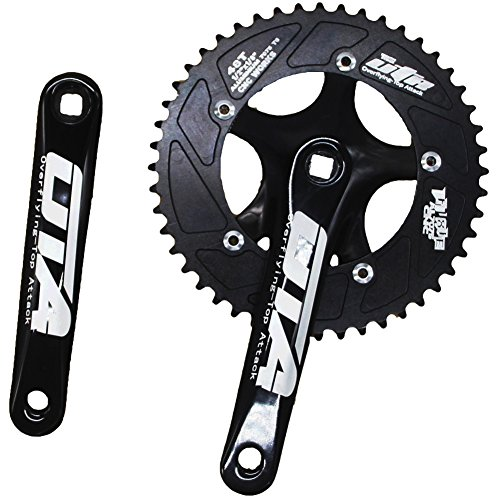 CYSKY Single Speed Crankset Set 48T 170mm Crankarms 130 BCD Fixie Crankset for Single Speed Bike, Fixed Gear Bicycle, Track Road Bike (Square Taper, ()