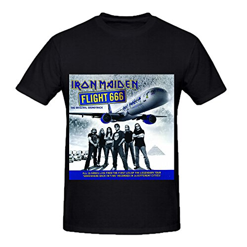 Iron Maiden Flight 666 Original Soundtrack Funk Album Cover Mens Crew Neck Casual Tee Black