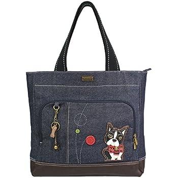 080d9d95cd8e Amazon.com  Chala Weiner Dog Pocket Tote Shoulder Bag - Dog Lovers ...