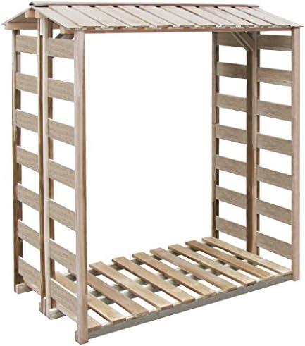 binzhoueushopping Abstellhilfe für Holzkästen 150 x 100 x 176 cm Kiefer imprägniert Kaminholzregal Holzregal