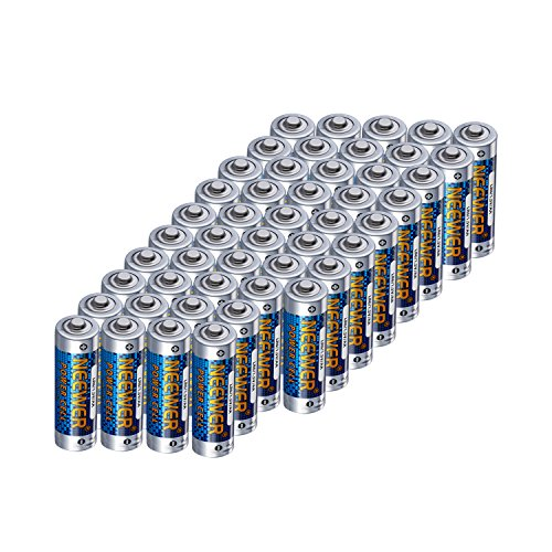 Neewer 48 Packs Count LR6 Alkaline AA Zinc-manganese Batteries 1.5V 2800mAh Reliable, Long Lasting Power for Canon, Nikon, Sony Flashes, LED Video Lights, Battery Grips with AA Battery Holder and More