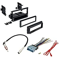 Car Stereo Cd Player Dash Install Mounting Kit Wire Harness Radio Antenna for Buick Cadillac Chevrolet Gmc Hummer Isuzu Oldsmobile Pontiac 2002 - 2012