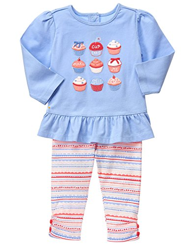 Gymboree Baby Cupcake Fairisle Set  Dainty Dawn  6 12