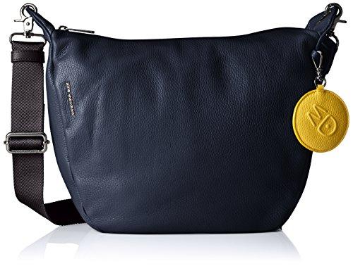 Mandarina Duck Mellow Leather Tracolla - Bolso de hombro Mujer Azul (Eclipse)