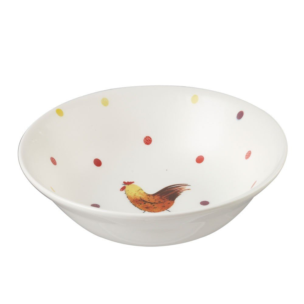 Alex Clark Rooster Mint Oatmeal Bowl, Multi-Colour, 15.5 cm Churchill China ACRS00291