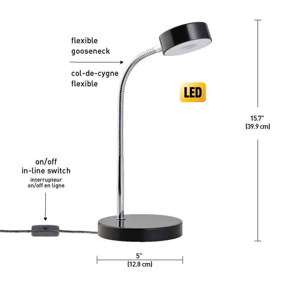 Globe Electric Company 12643 LED Desk Lamp Black