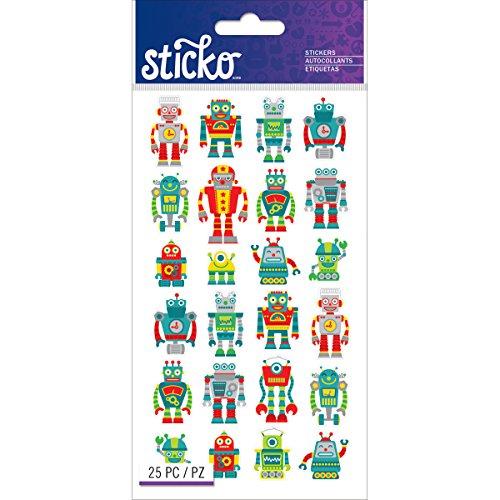 [Sticko Classic Mini Robots Stickers] (Robot Sticker)
