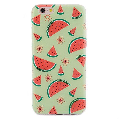 iPhone 6 6s Case, Arktis Luxus Hardcase mit Swarowski Steinen Wassermelone