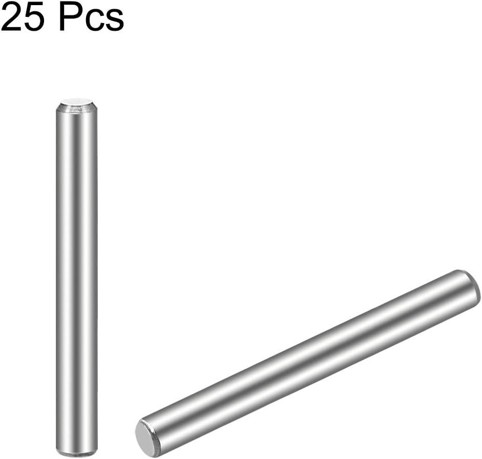 sourcing map 20 pzas Pasador de Acero Inoxidable 304 Elementos Pin Estante de 5mm x 16mm Tono Plateado