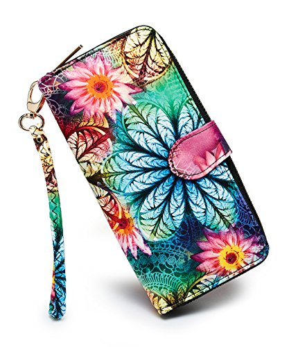 LOVESHE Women's Flower Polyester Bifold Purse Clutch Wallet Card Holder New Fashion by LOVESHE