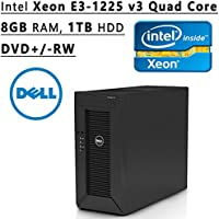 Dell Flagship PowerEdge T20 tower Server System| Intel Xeon E3-1225 v3 3.2GHz Quad Core| 8GB RAM | 1TB HDD| DVD RW | No Operating System | Black