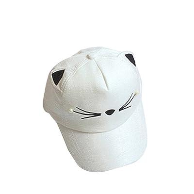 BUYEONLINE Kids Baby Bunny Rabbit Visor Baseball Cap Coquette Cotton Peaked Hat