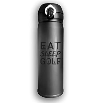Eat Sleep Golf Funny Print Stainless Steel Insulated Water Bottle ... 9009b5f85