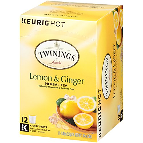 Twinings of London Lemon & Ginger Herbal Tea K-Cups for Keurig, 12 Count (Pack of 6) by Twinings (Image #8)