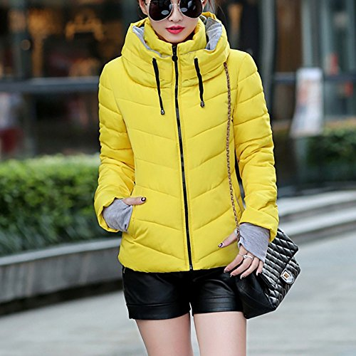 Chaqueta mujer amarillo para para Chaqueta Sepbear Sepbear 86xqFZ