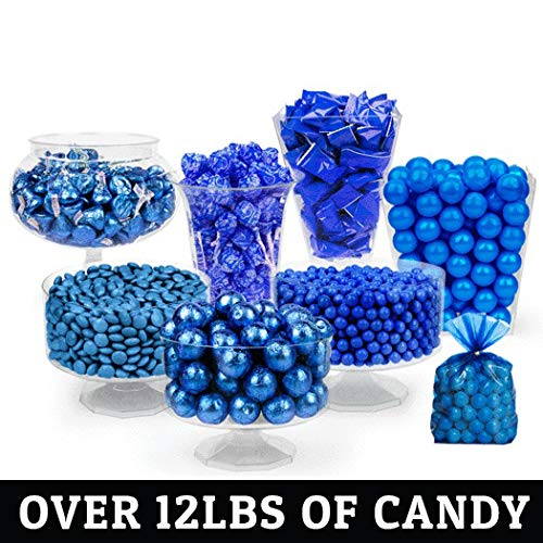 Blue Candy Buffet Supplies (Approx 12 lbs) Dark Blue Candy Table Supplies - Free Cold Packaging -