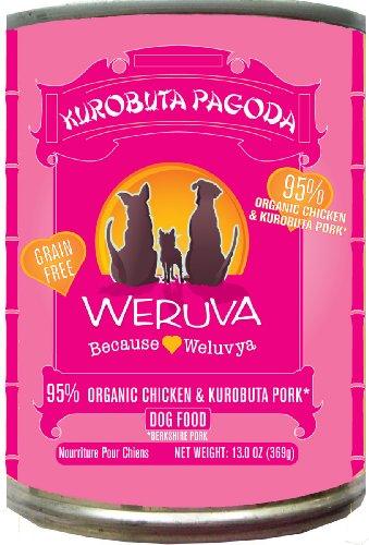 Weruva Dog Food, Kurobuta Pagoda with Kurobuta Pork & Organic Chicken, 12.8oz Can (Pack of 12)