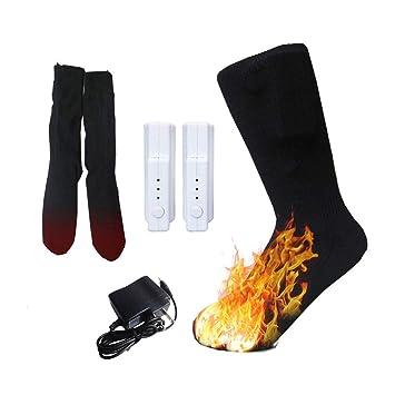 HIXGB Calentadores Eléctricos Calentados para Hombres Mujeres Calentador de Pies - 3.7V Ajuste de Temperatura
