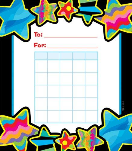 36 x Poppin' Patterns Starts Design Children's Reward Chart Pad Creative Teaching CTP1414