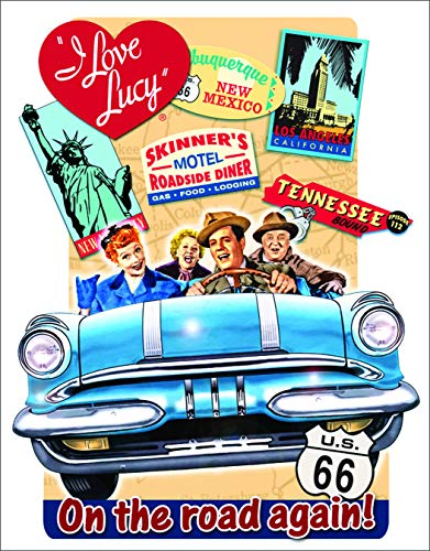 (Desperate Enterprises I Love Lucy - On The Road Tin Sign, 12.5
