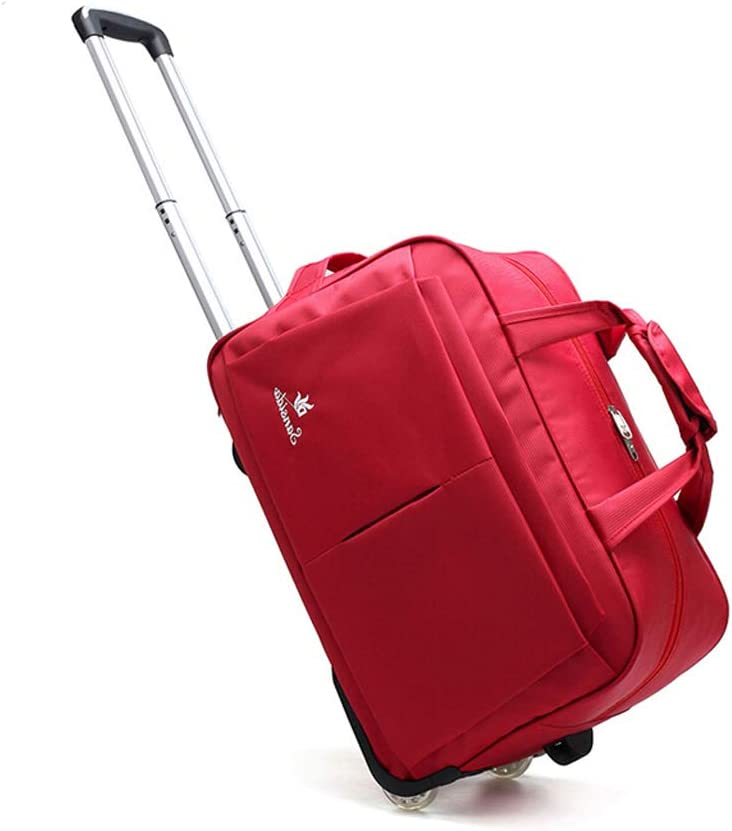 Color : Red Minmin-lgx Waterproof Rolling Trolley School Bag Backpack On Wheels Camouflage Wheeled Backpack Carry On Luggage