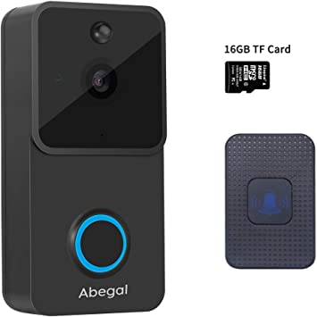 Video Doorbell Wireless Camera WiFi Chime Kit Night Vision Weather Resistant