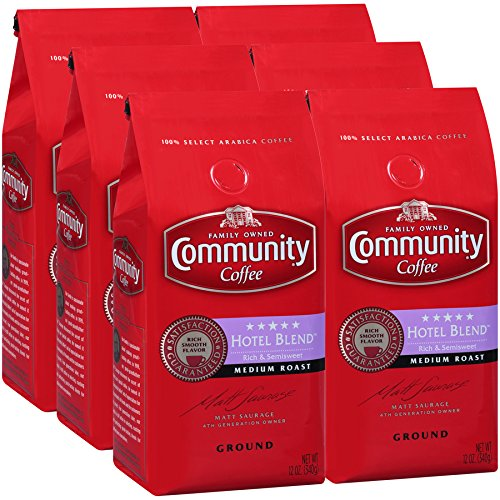 - Community Coffee Premium Coffee 12 Ounce (Pack of 6) (5 Star Hotel Blend)