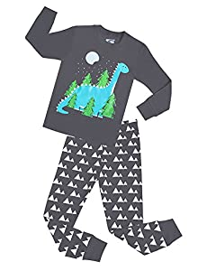 Boys Dinosaur Pajamas Children 2 Piece Cotton Clothing Sleepwear Set For Kids