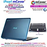 iPearl mCover Hard Shell Case for 11.6 ASUS Chromebook C201 series laptop (Aqua)