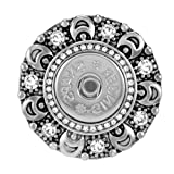 Ginger Snaps Bling Magnetic Brooch SN95-15 (Standard Size) Interchangeable Jewelry Snap Accessory