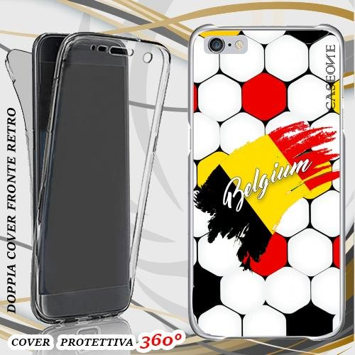 CUSTODIA COVER CASE EUROPEI BELGIO PER IPHONE 6 PLUS FRONT BACK