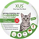 [New 2018] Cat Collar - Natural Essential Oils Flea & Tick Repellent (One Size Fits Most) 12 inch