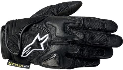 Alpinestars 1694350104 Motorcycle Gloves SMX-2 Air Carbon V2 Black-XL
