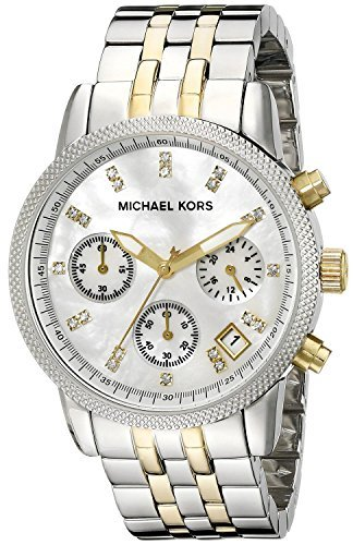 Michael Kors MK5057 Women's Two Tone Chronograph Watch (Watch State Ladies White)
