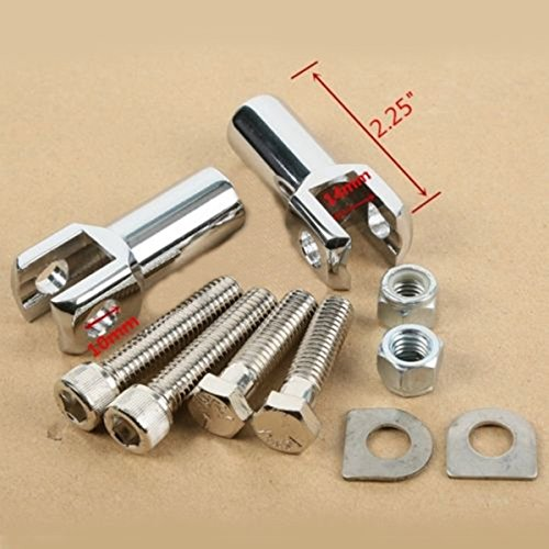 Chrome Dually Highway Foot Pegs Footpegs For Harley 25mm 30mm 35mm Drag Specialties Gas Caps
