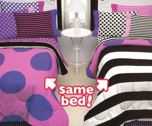 Missmatched Double Vision 7pc Full Bed-in-Bag Bedding Set