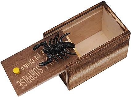 Dingcaiyi Caja De Pánico De Broma, Caja De Broma De Araña, Caja De ...