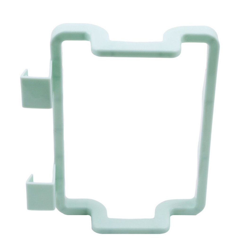 LALANG Plastic Over the Cabinet Kitchen Storage Organizer Trash Bag Holder for Kitchen Cabinets Doors and Cupboards (Green)