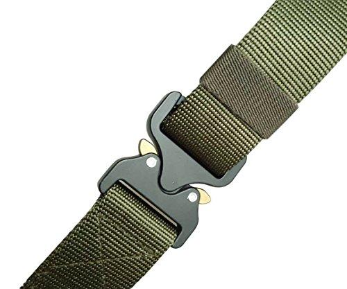 Réglable Style Militaire Ceinturon Tactique Avec Ceinture Boucle Alaix Vert Cobra Toile De YcFEcqw