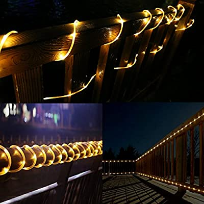 LE LED Solar Powered String Lights, Waterproof, Fairy Lights for Christmas Garden Party Patio Outdoor Decoration
