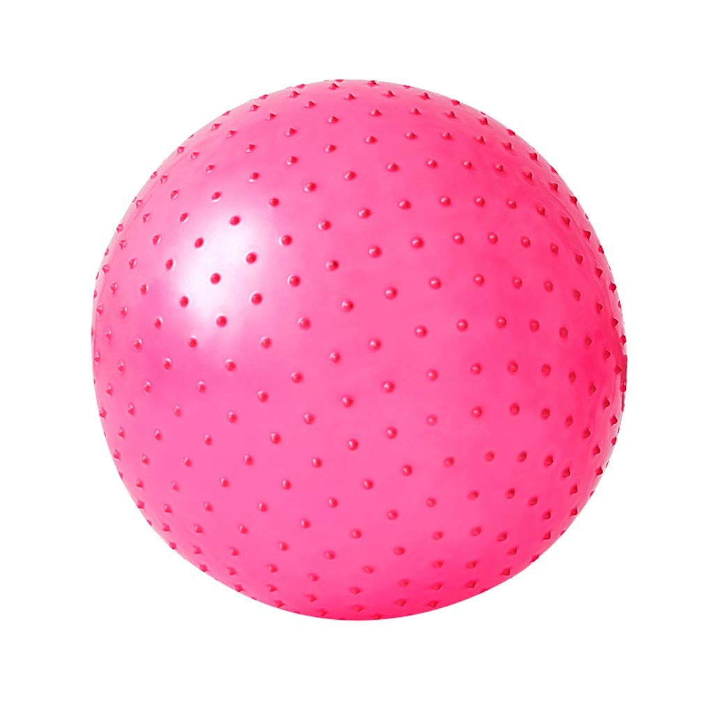 Exercise Ball, Gym Ball Anti-Burst & Extra Thick Swiss Ball with Quick Pump, Birthing Ball for Yoga Pilates Fitness Pregnancy & Labour for Home Office (Color : Pink, Size : 65cm)